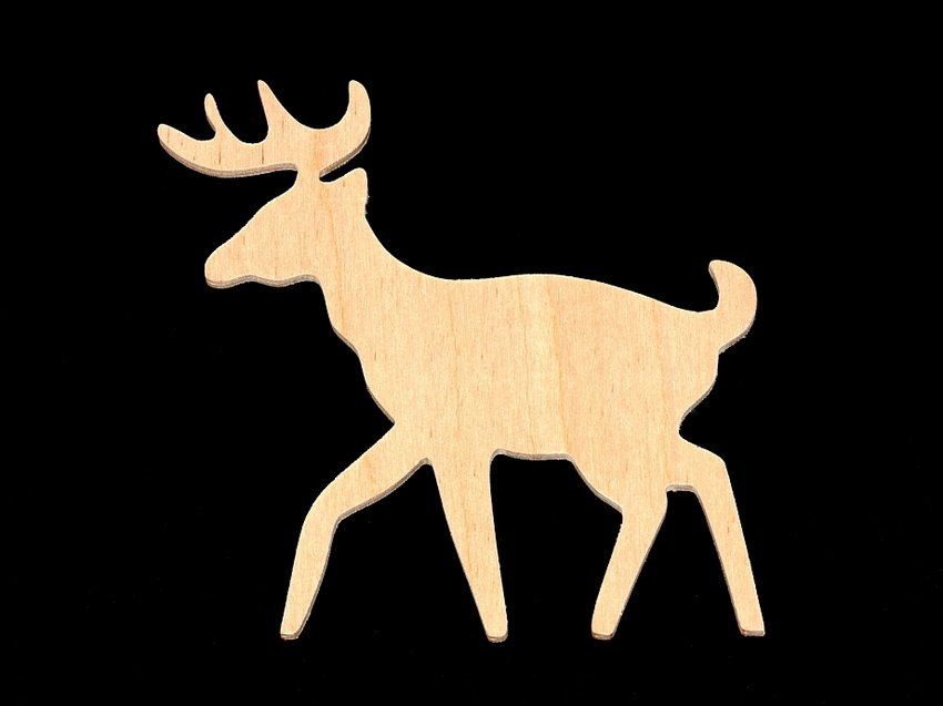 Deer Cutout Hand Cut Plywood Hc Buck 0 5900