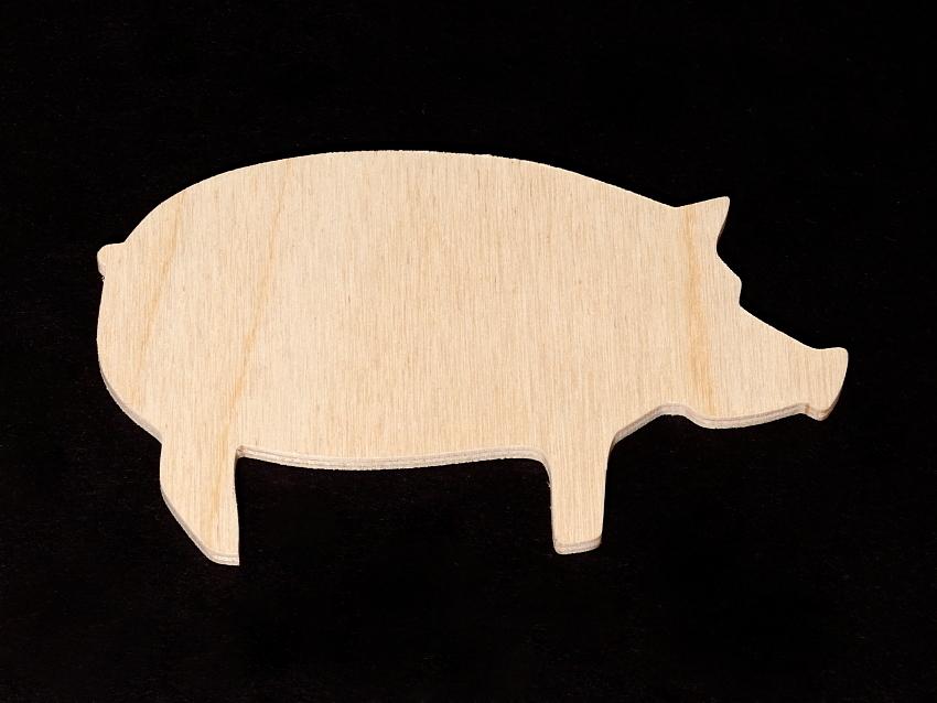 Pig Cutout Standing Pig Wooden Cutout Shape Hc Pig